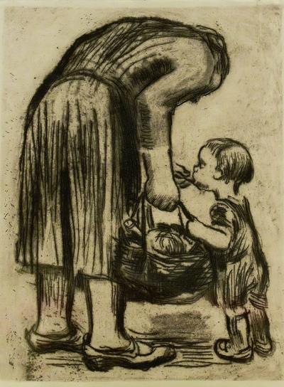 母爱黑白手绘图片大全