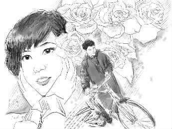 手绘插画酷女孩
