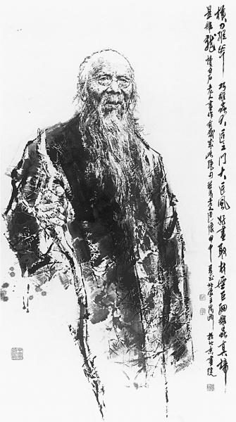 白石老人(中国画)《近现代文化精英肖像系列》之