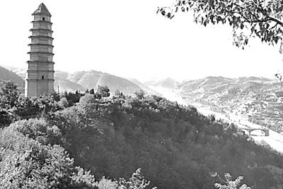延安宝塔山                图片选自《卢绪章》