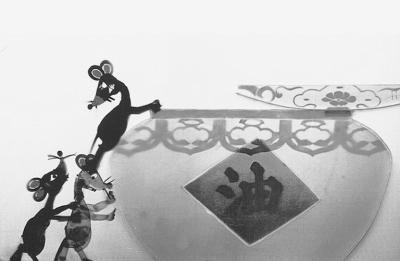 儿童简笔画黑白色的线描老鼠,动物图片,陆地动物矢量