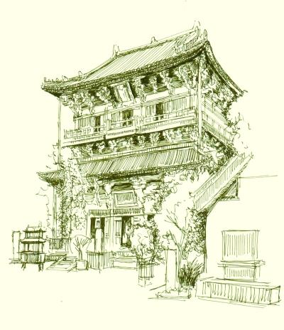 """著名建筑学家梁思成先生曾称独乐寺为""""上承唐代遗风,下启宋式营造,实"""