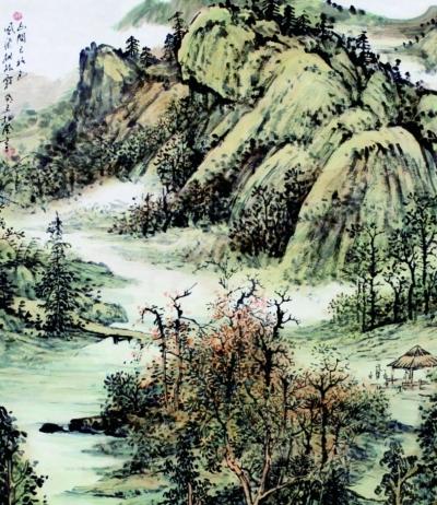 五年级画画图片一等奖青山绿水