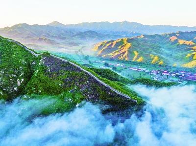 长城四季风景图片