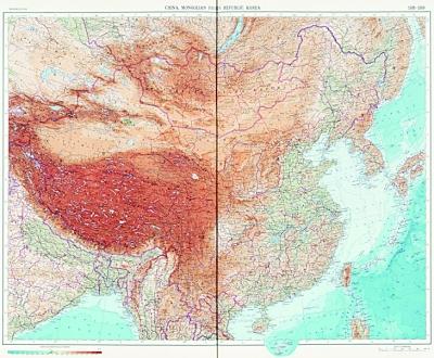 1967年苏联出版的世界地图集,用汉语拼音标注南海诸岛,肯定南海诸
