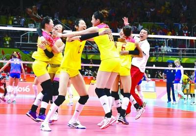里约奥运会女子排球决赛中国队夺冠