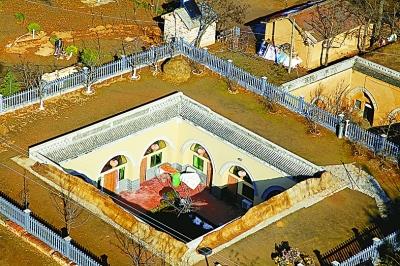 陕州地坑院图片