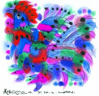 春节的动物绘画作品
