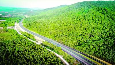 航拍鹤大高速吉林段 高强摄 光明图片/视觉中国