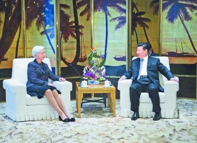 习近平会见国际货币基金组织总裁拉加德www.lxym8.com