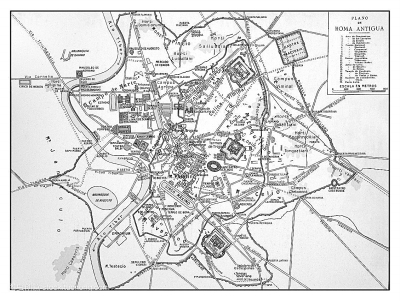 古罗马城平面图