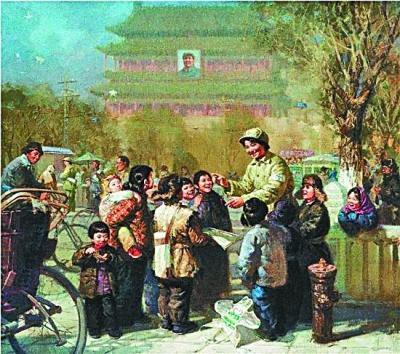 """共产党人的""""初心故事""""(油画)"""