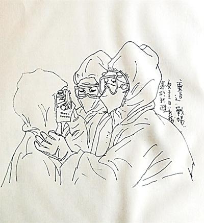 新疆画家用画笔向防控一线致敬